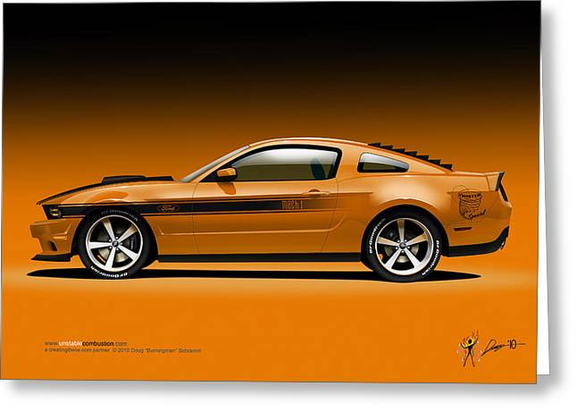 2011 Ford Twister Mustang Greeting Card