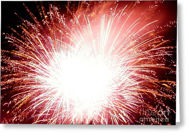 Greeting Card featuring the digital art 2012 Fireworks by Angelia Hodges Clay