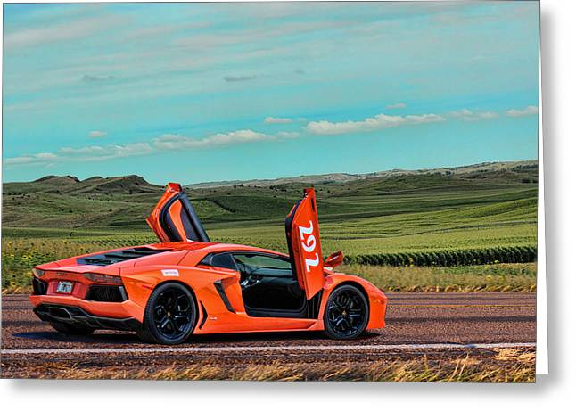 2012 Lamborghini Aventador Greeting Card by Sylvia Thornton