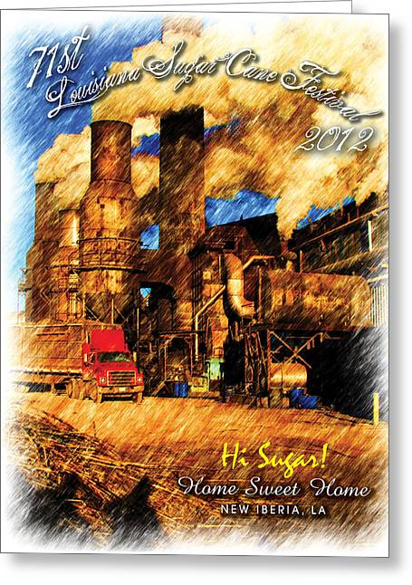 2012 Louisiana Sugarcane Festival Poster Greeting Card