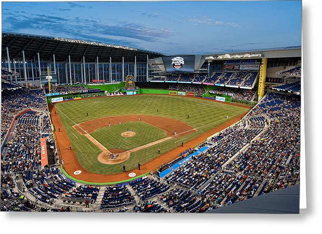 2012 Marlins Park Greeting Card by Mark Whitt
