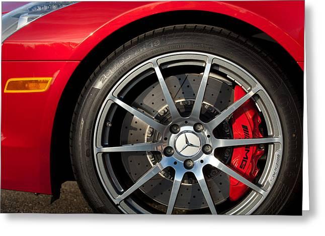 2012 Mercedes-benz Sls Amg Gullwing Wheel Greeting Card