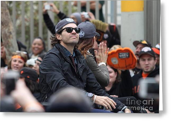 2012 San Francisco Giants World Series Champions Parade - Barry Zito - Img8206 Greeting Card by Wingsdomain Art and Photography