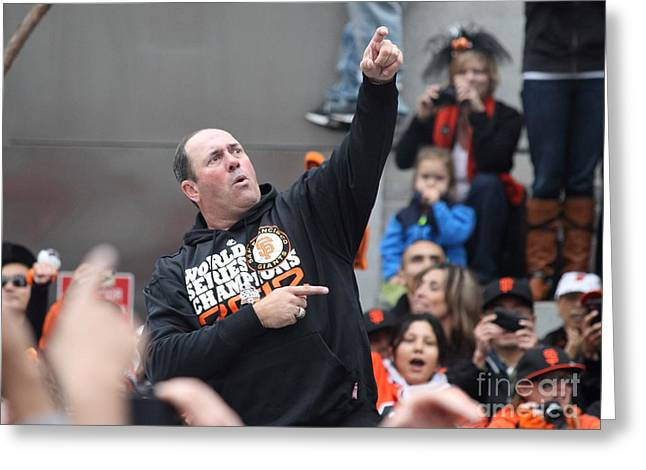 2012 San Francisco Giants World Series Champions Parade - Will The Thrill Clark - Dpp0006 Greeting Card