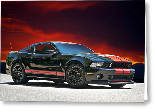 2012 Shelby Mustang Gt 500 Greeting Card by Dave Koontz