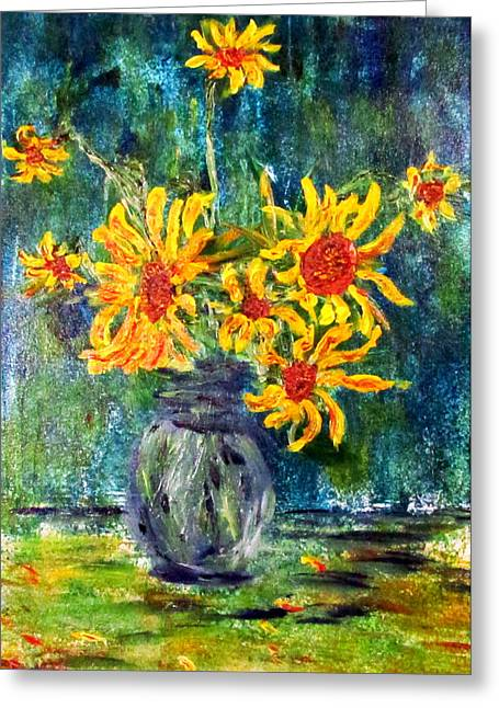 2012 Sunflowers 4 Greeting Card by Denny Morreale