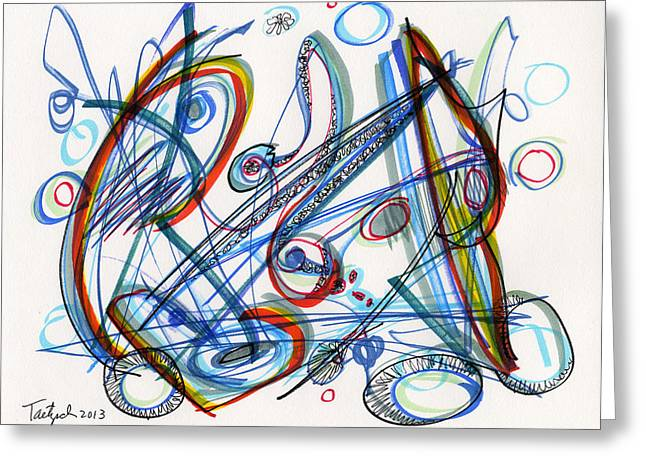 2013 Abstract Drawing #12 Greeting Card