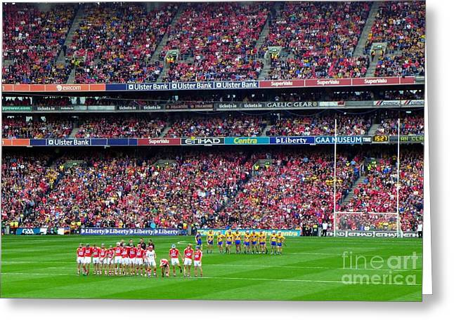 2013 All Ireland Hurling Final Teams Greeting Card by Patrick Dinneen