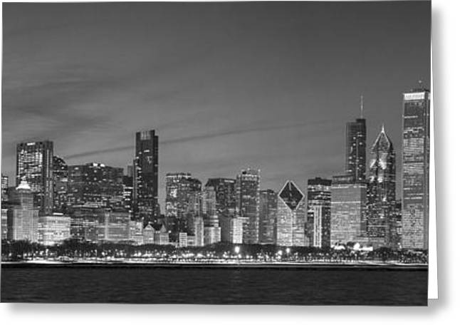 2013 Black And White Chicago Greeting Card by Donald Schwartz