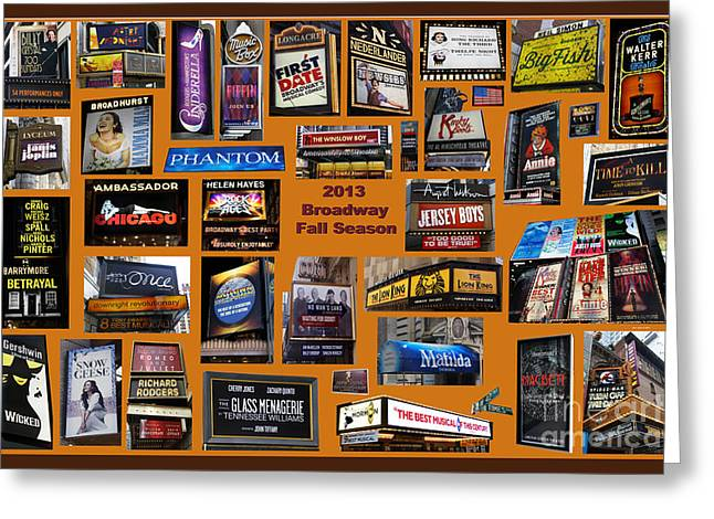 2013 Broadway Fall Collage Greeting Card by Steven Spak
