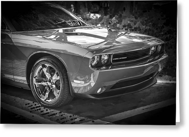 2013 Dodge Challenger Bw  Greeting Card by Rich Franco