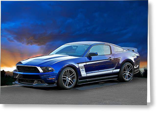 2013 Ford Mustang Boss 302 Greeting Card by Dave Koontz