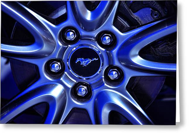 2013 Ford Mustang Gt Wheel Greeting Card by Gordon Dean II