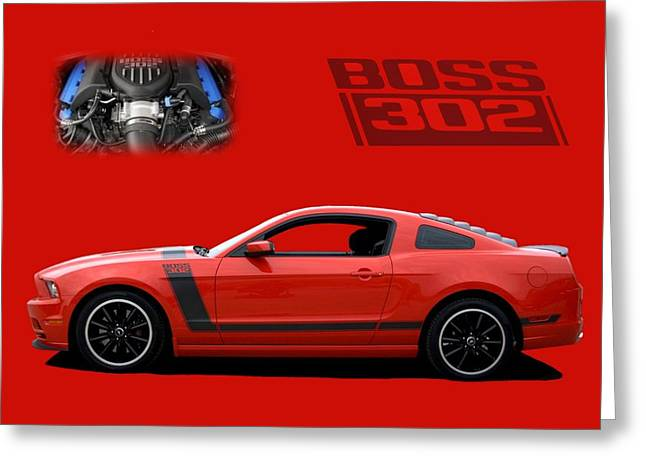 2013 Mustang Boss 302 Greeting Card