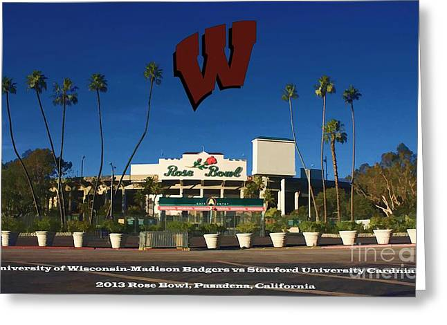 2013 Rose Bowl Pasadena Ca Greeting Card by Tommy Anderson