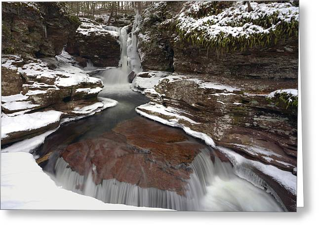 2014 Begins At Adams Falls Greeting Card