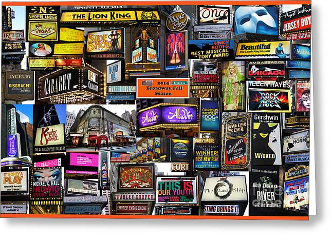 2014 Broadway Fall Season Collage Greeting Card