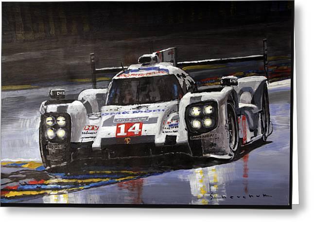 2014 Le Mans 24 Porsche 919 Hybrid  Greeting Card
