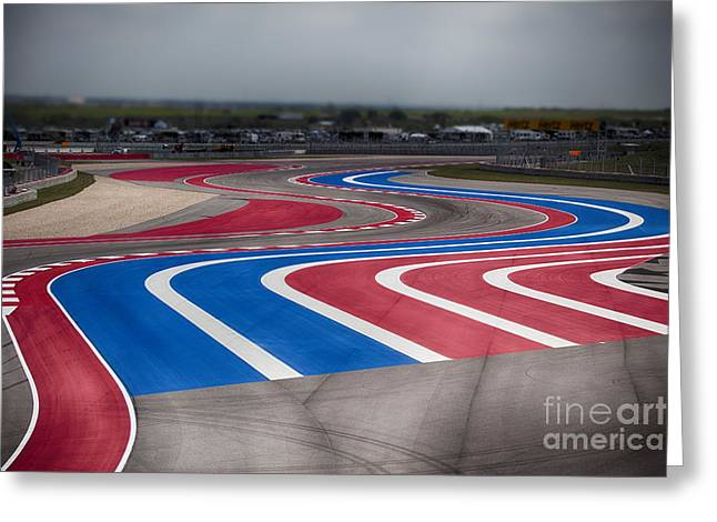 2014 Motogp Red Bull Grand Prix Of The Americas Track Greeting Card by Douglas Barnard