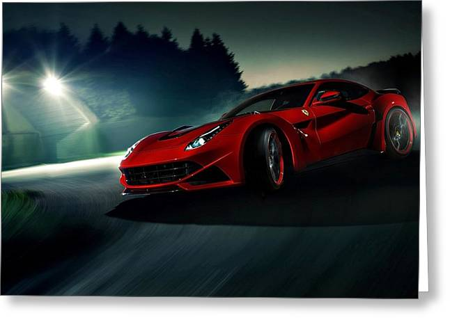 2014 Novitec Rosso Ferrari F12 Berlinetta N Largo Greeting Card
