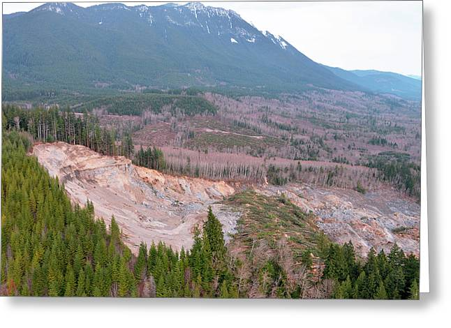 2014 Oso Mudslide Greeting Card by Us Geological Survey