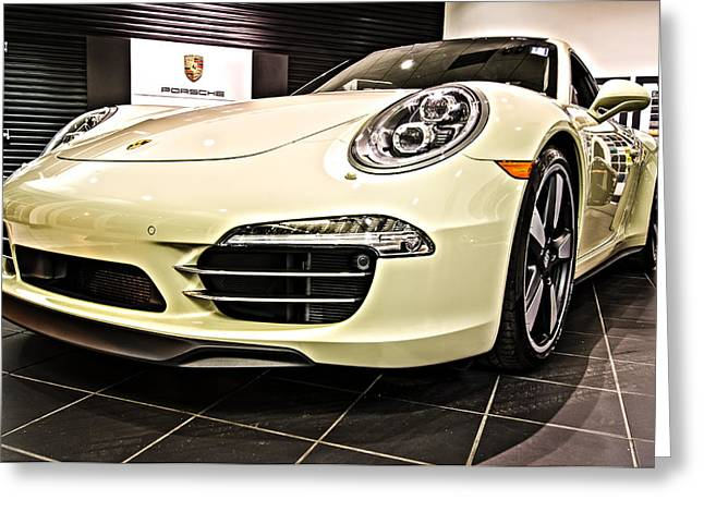 2014 Porsche 911 50th Front Greeting Card