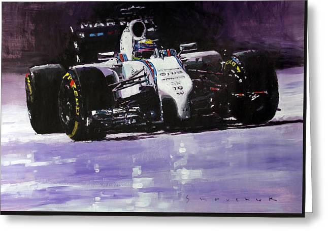 2014 Williams F1 Team Fw 36 Felipe Massa  Greeting Card by Yuriy Shevchuk