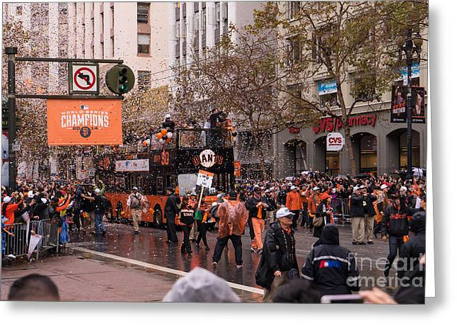 2014 World Series Champions San Francisco Giants Dynasty Parade Dsc1955 Greeting Card by Wingsdomain Art and Photography