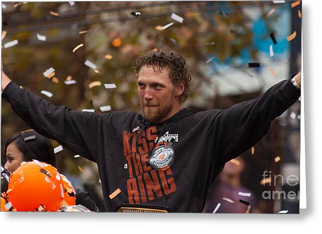 2014 World Series Champions San Francisco Giants Dynasty Parade Sergio Romo 5d29766 Greeting Card