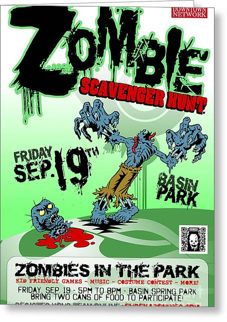 2014 Zombie Scavenger Hunt In Eureka Springs Ar Greeting Card