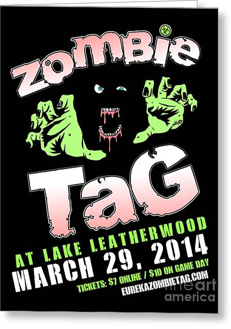 2014 Zombie Tag Eureka Springs Poster Greeting Card