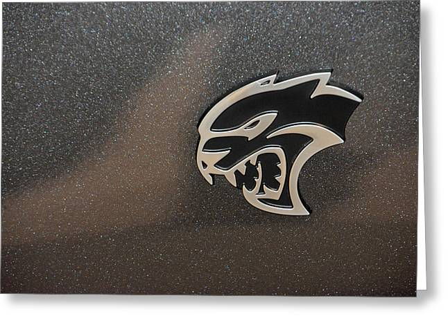 2015 Dodge Challenger Srt Hellcat Emblem Greeting Card