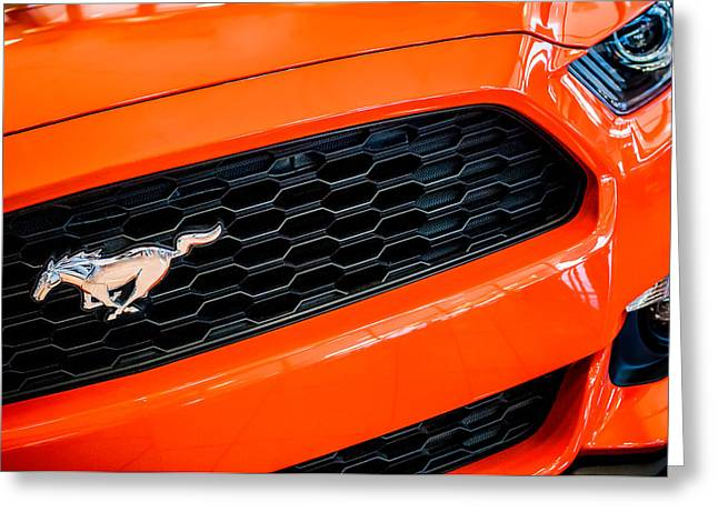 2015 Ford Mustang Prototype Grille Emblem -0092c Greeting Card by Jill Reger