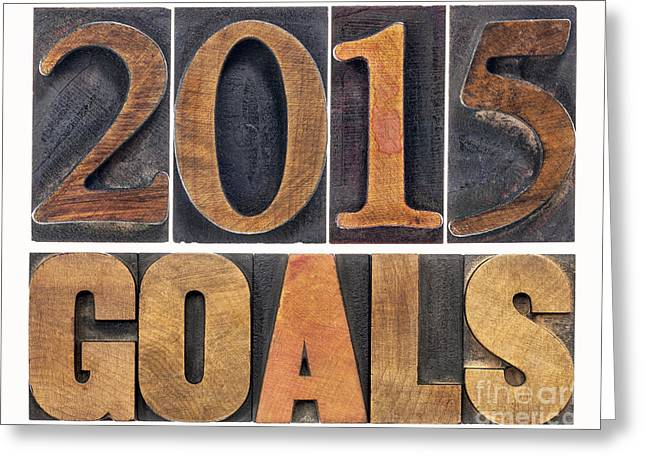 Greeting Card featuring the photograph 2015 Goals  by Marek Uliasz