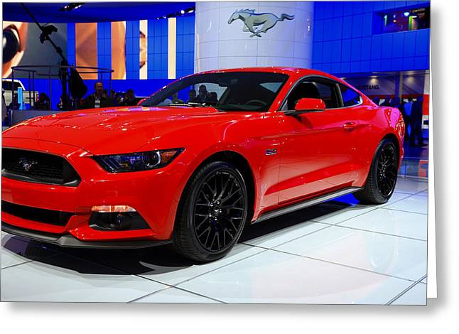 2015 Mustang In Red Greeting Card