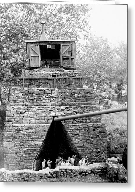 Blast Furnace Greeting Card by Hagley Museum And Archive