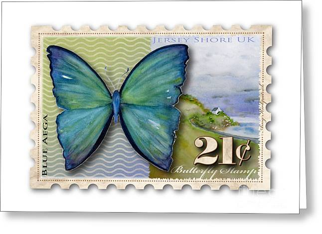 21 Cent Butterfly Stamp Greeting Card by Amy Kirkpatrick