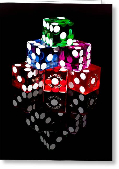 Colorful Dice Greeting Card