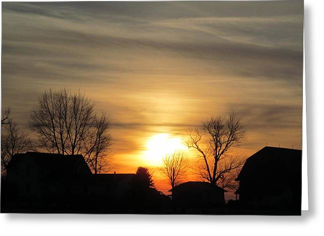 21 Dec 2012 Sunset Two Greeting Card