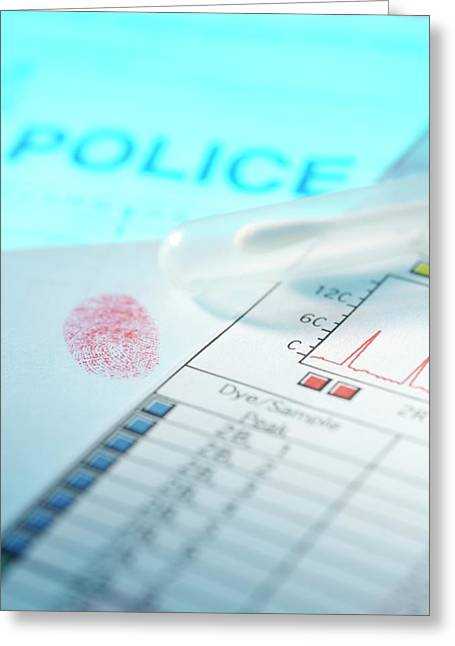Forensic Evidence Greeting Card by Tek Image