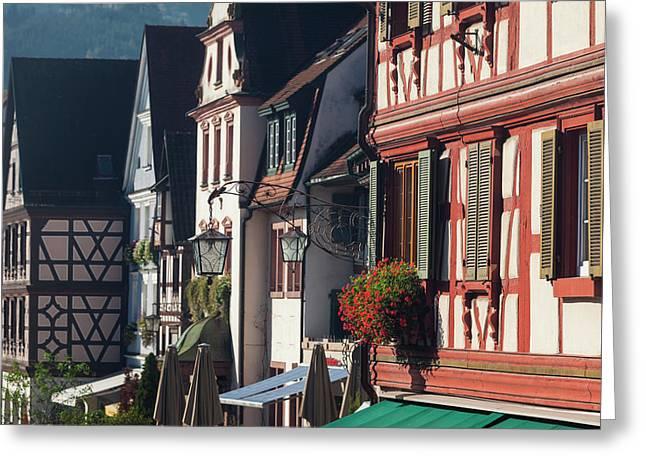Germany, Baden-wurttemburg, Black Greeting Card