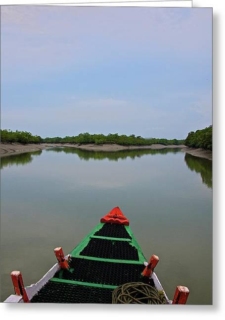India, West Bengal, Sunderbans National Greeting Card
