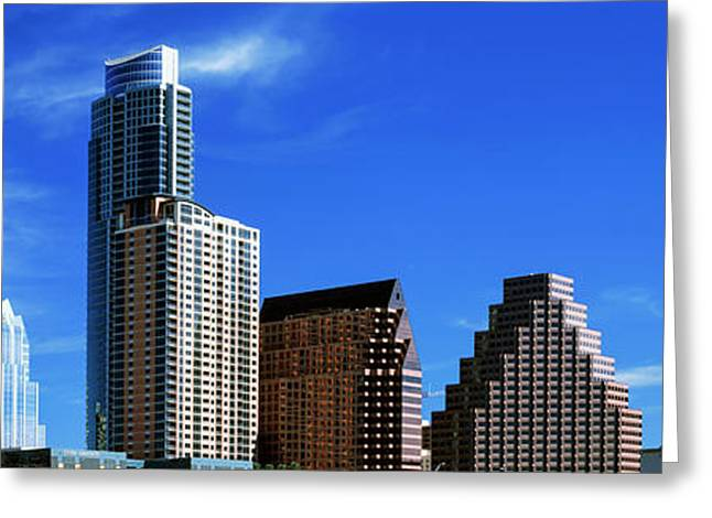Low Angle View Of Skyscrapers Greeting Card