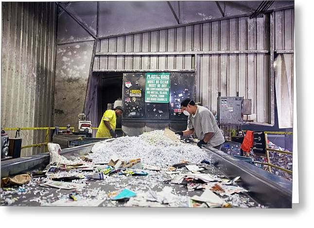 Recycling Plant Greeting Card