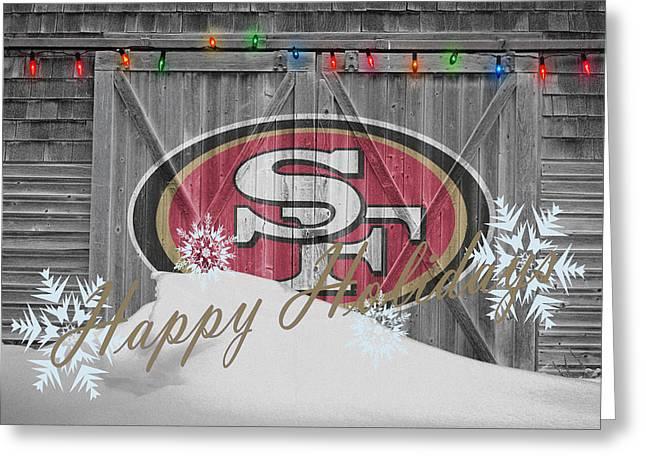 San Francisco 49ers Greeting Card by Joe Hamilton