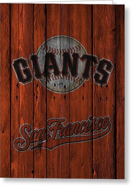 San Francisco Giants Greeting Card by Joe Hamilton