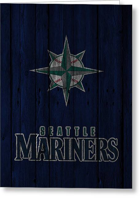 Seattle Mariners Greeting Card by Joe Hamilton