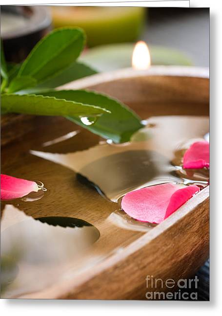 Spa Setting Greeting Card