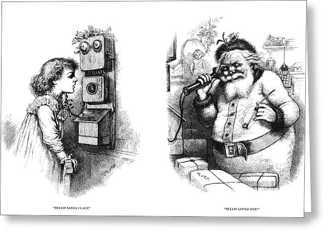 Thomas Nast Santa Claus Greeting Card by Granger