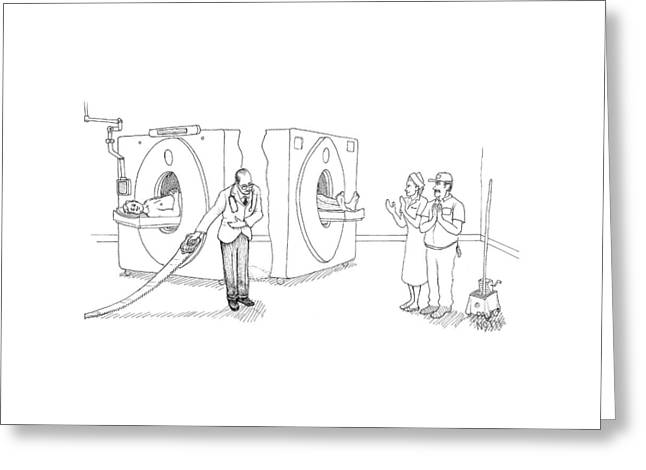 Mri Magician Greeting Card by Paul Noth
